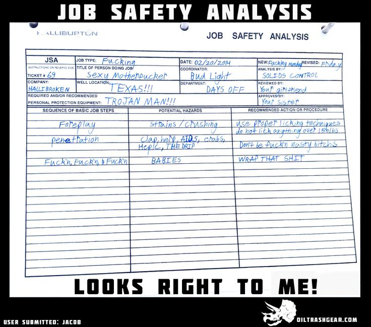 Job safety anlysis looks rights to me Safety Meme