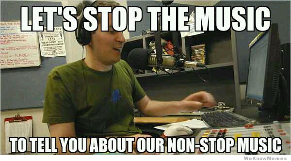 Lets stop the musix to tell you about our Stop Memes