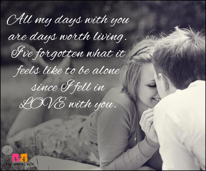 Love Quotes For Wife all my days with you are