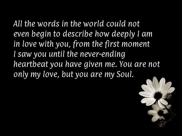 Love Quotes For Wife all the words in the world could