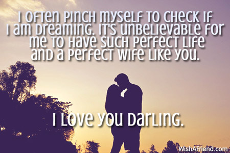 Love Quotes For Wife i often pinch myself to check if