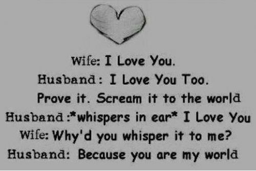 Love Quotes For Wife i love husband i love you too