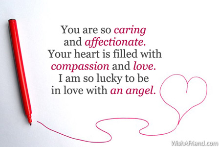 Love Quotes For Wife you are so caring and affectionate