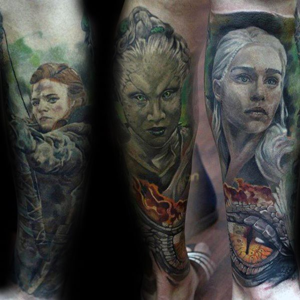 Lovely Game Of Thrones Tattoos On arm for women
