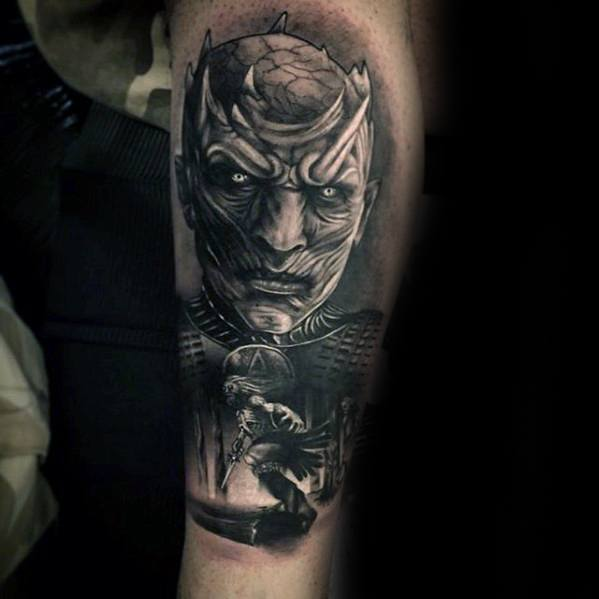 Most beautiful Game Of Thrones Tattoos for men's leg