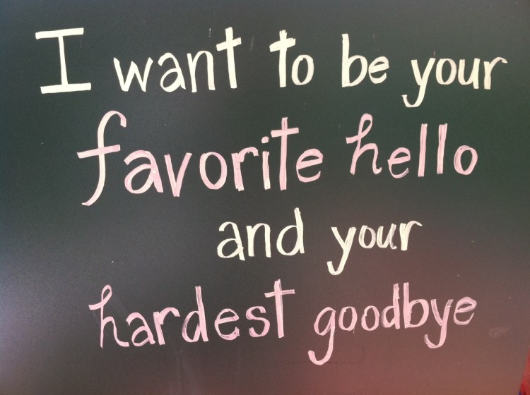 Motivational Love Quotes i want to be your favorite hello