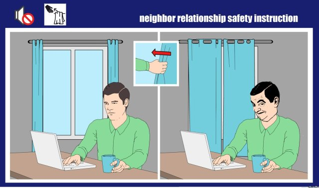 Neighbor relationship safety instruction Safety Meme