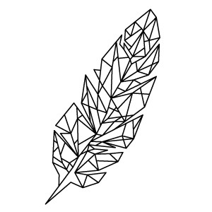 Nice Geometric Feather Tattoo For tattoo fan