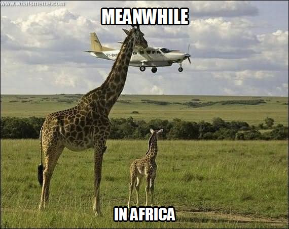 Plane Meme Meanwhile in africa