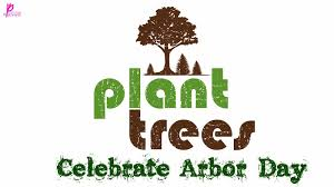 Plate Tree Happy Arbor Day Image