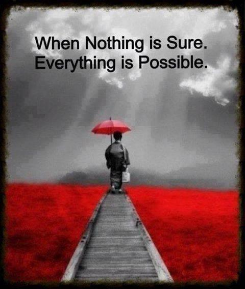 Possible Quotes When nothing is sure Everything is possible (2)