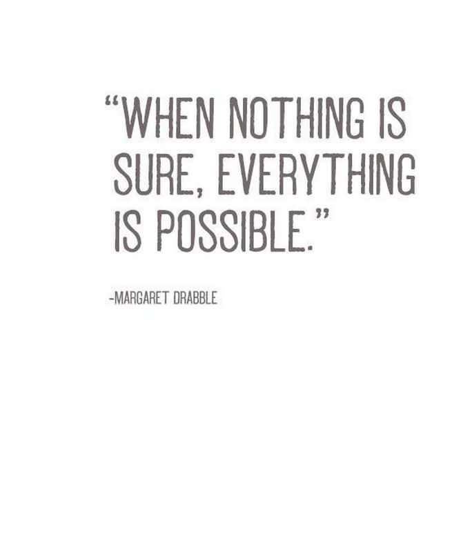 Possible Quotes when nothing is sure everything is possible (3)