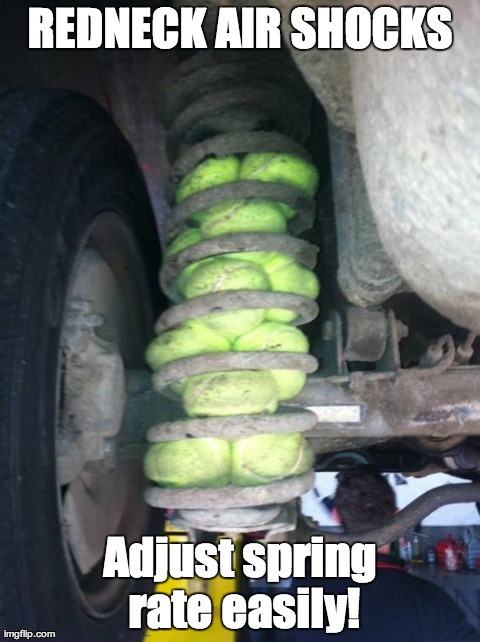 Redneck Memes Redneck air shocks adjust spring rate