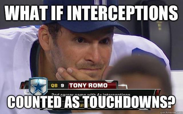 Sports Meme What if interceptions