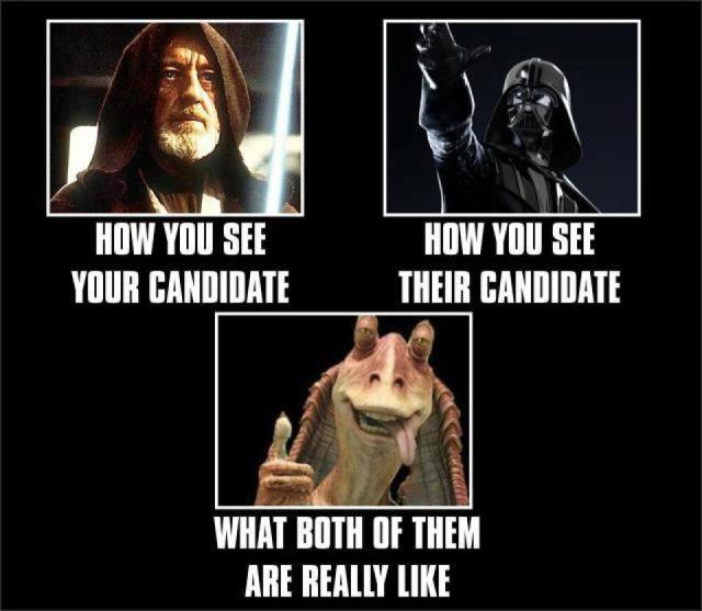 Star War Memes How you see your candidate