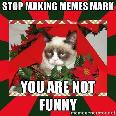 Stop making memes mark you are not funny Stop Meme