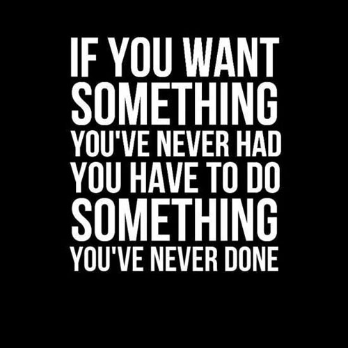 Success Quotes if you want something you've never had you have to do