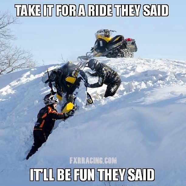 Take it for a ride they Sled Meme