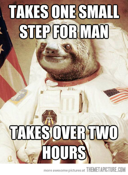 Takes one small step for man takes over two Space Memes