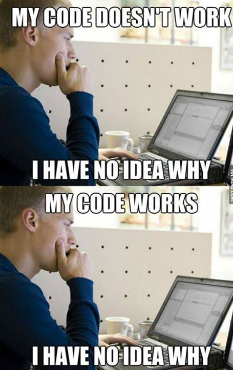 Technology Meme My code doesn't work i have no idea why my code