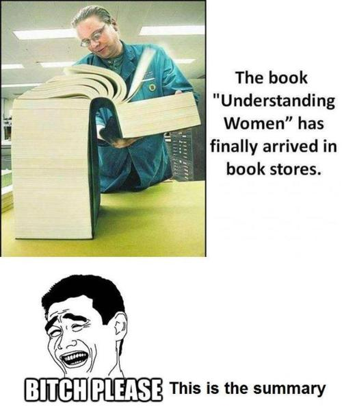 The book understand women has Woman Memes