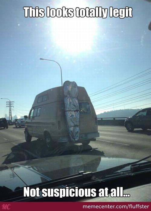 This looks totally legit not suspicious at all Van Memes