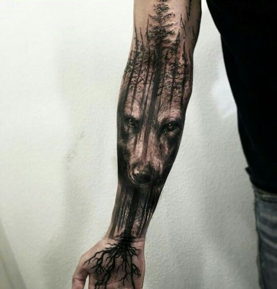 Trendy Forest Tattoos On arm for men