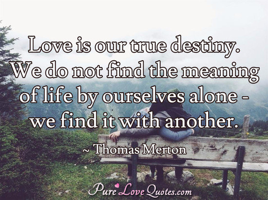 True Love Quotes love is our true destiny we do not find the meaning
