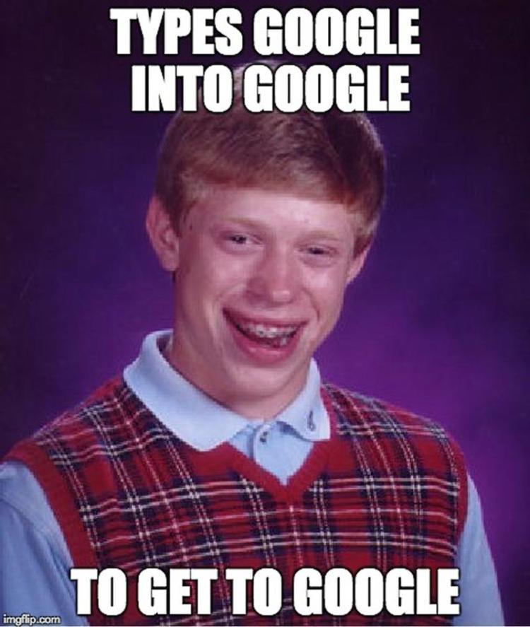 Types google into google to get o google Technology Meme