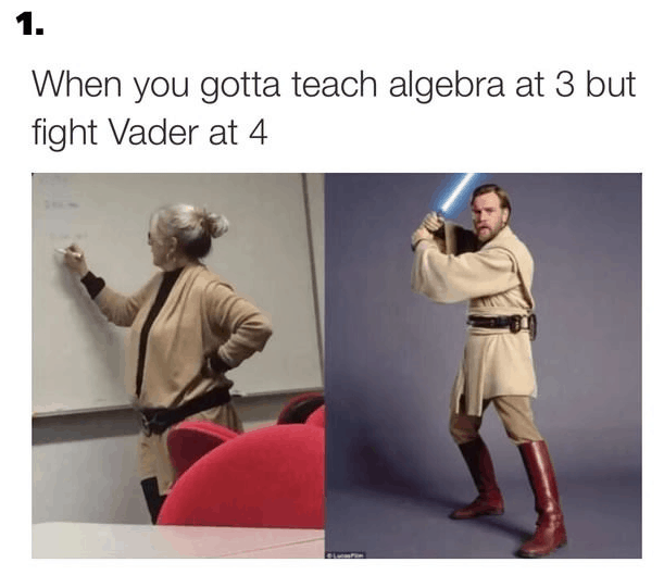 When you gotta teach algebra at War Meme