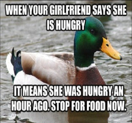 When your girlfriend say she is hungry it Stop Meme