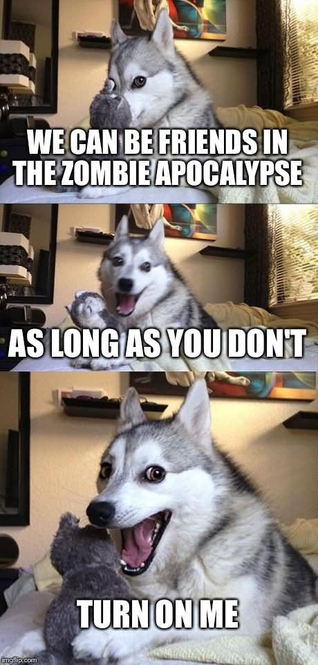 Zombie Meme We can be friend in the zombie