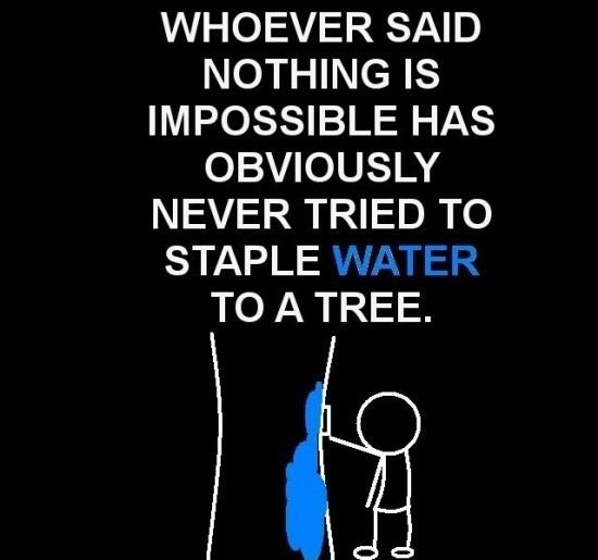 impossible quotes whoever said nothing is impossible has obviously never tried to staple