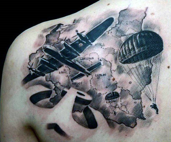 Parachute tattoos
