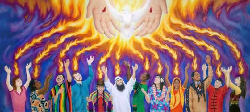 Pentecost Tongues of Fire Wishes Picture