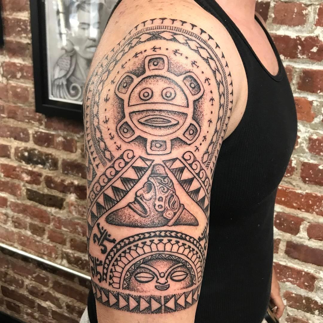 Puerto Rican Taino Warrior Symbols