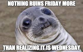 Wednesday Meme nothing ruins Friday more than realizing it is Wednesday