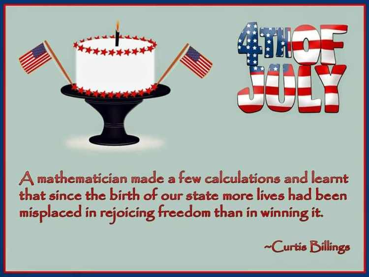 4th Of July Greetings Wishes Quotes By Curtis Billings