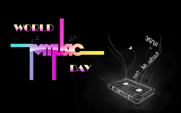 Awesome Music Day Greetings Wallpaper