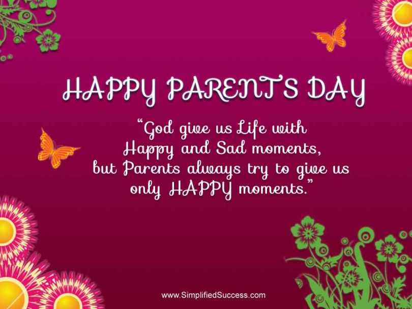 Beautiful Happy Parents Day Greetings Quotes Images