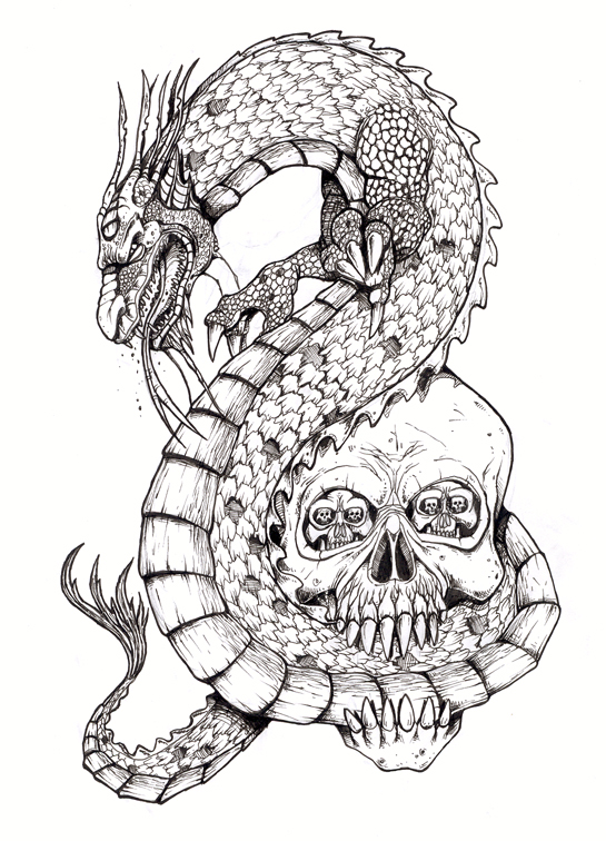 Dragon Skull Tattoos