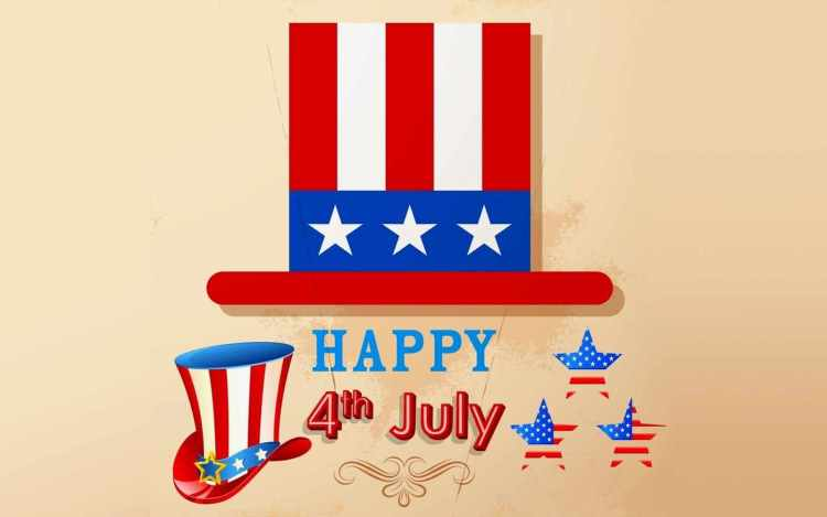 Happy 4th July Greetings Message Wishes Wallpaper