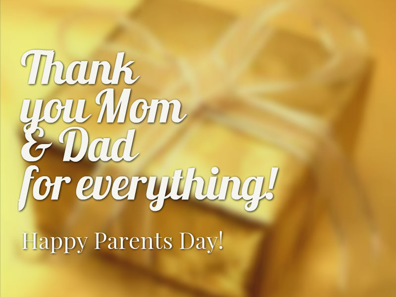 Happy Parents Day Thanks For Everything Wishes Images