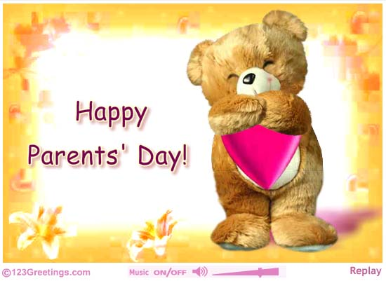 Happy Parents Day The Most Beautiful Thing in This World Greetings Card Image