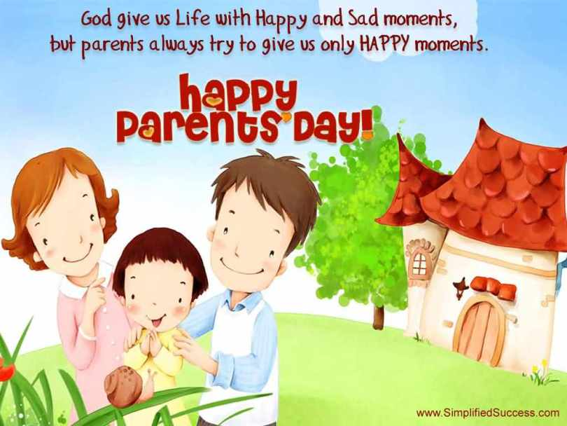 Happy Parents Day To My Lovely Mom And Dad Wishes Message Graphic