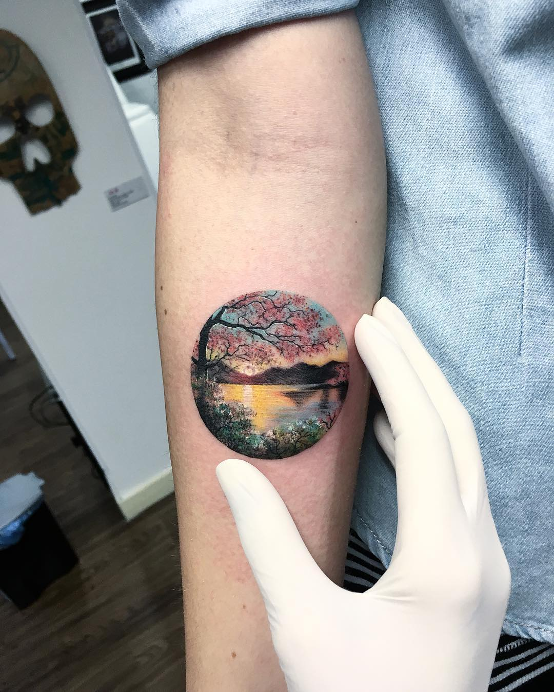 Tiny Circle Tattoos By Eva Krbdk