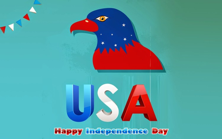 USA Happy Independence Day Eagle Greetings Card Image