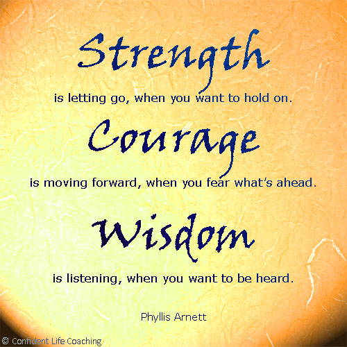 Wisdom Strength Quotations