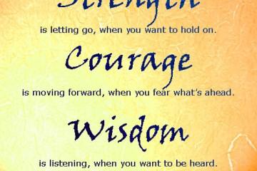 Wisdom Strength Quotations