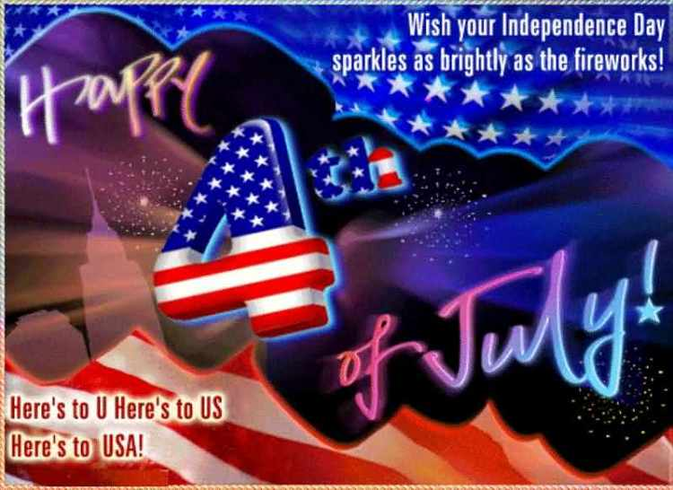 Wish You Independence Day 4th of July Greetings Wishes Image